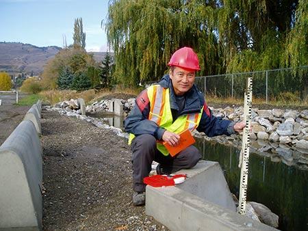 Naito Inspecting Water Drainage Canal