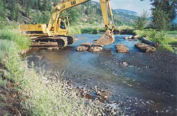 Monitoring Natures Water Sources - Cat Digger Crossing Stream